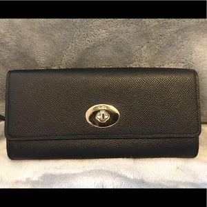 PRISTINE Coach Saffiano Leather Wallet
